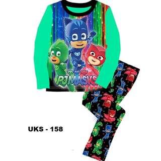 PJ Masks Long Sleeve Pyjamas For (2 Yrs To 7 Yrs)