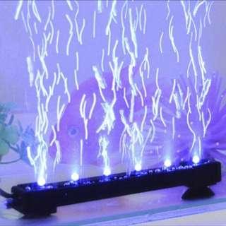 魚缸燈led燈防水照明燈七彩變色魚缸氣泡燈增氧水族箱裝飾潛水燈