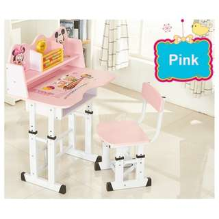 Adjustable Length Cartoon Themed Kid Learning Table & Chair Set