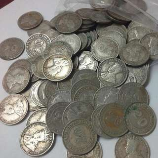 Straits Settlements 20 Cents silver Coins $2.50 Each