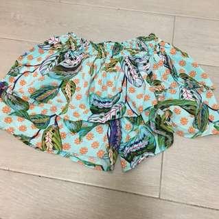 Zara culottes Floral Shorts 5-7