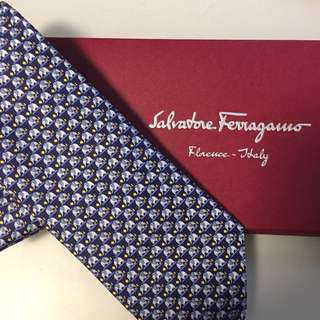 Brand new and real ferragamo tie Blue Elephant