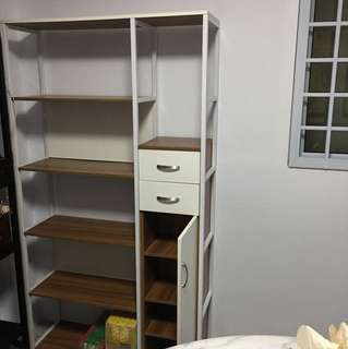 Book shelf/display unit with 2 drawers and cabinet