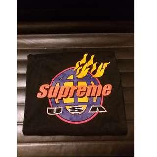 FS LEGIT Supreme FIRE USA Tees Brand New Deadstock Size M