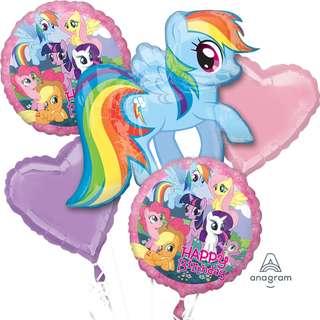 My Little Pony Birthday Balloon Bouquet (Helium w/ Weight) (Item #: 26422)