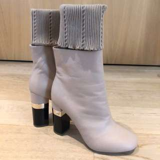 Chanel boots size 37 (nude colour)