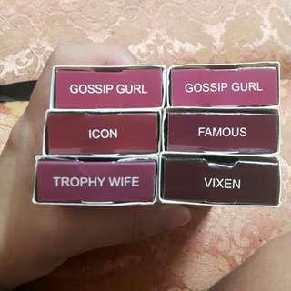 HUDA Beauty and Colourpop Matte Lipstick