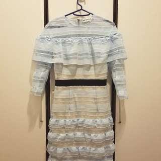 BrandNew BabyBlue Lace Dress 全新天藍色水溶蕾絲裙