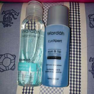 Wardah cleaning water (take it all 65rb)