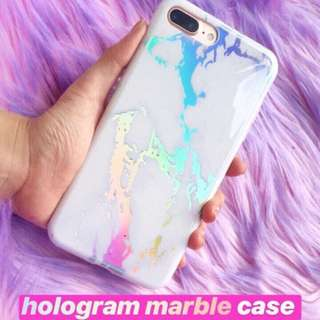 ‼️ +free 1 case NEW Hologram Marble Case