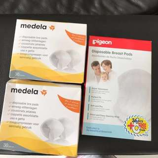 Brand new disposable breast pads medela and pigeon