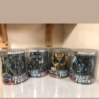 Transformer the movie-deluxe classes brawl,barricade,bumblebee and jazz