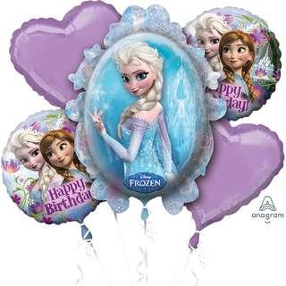 Frozen Birthday Balloon Bouquet (Helium w/ Weight) (Item #: 29011)