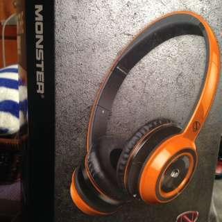Monster N-credible N-tune 耳罩式耳機 橘色