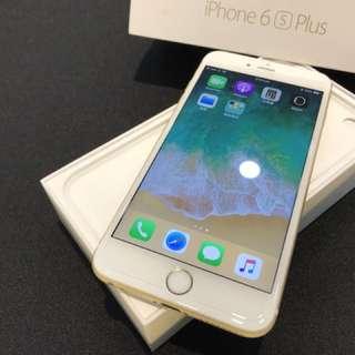 無傷 已更換新電池 金色 iPhone6S Plus 64G 盒裝 附原廠充電頭 倍思傳輸線 無耳機 高雄鳳山可面交