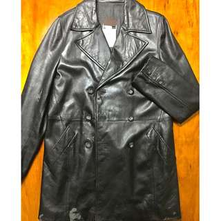 Original Dolce & Gabbana vintage leather peacoat