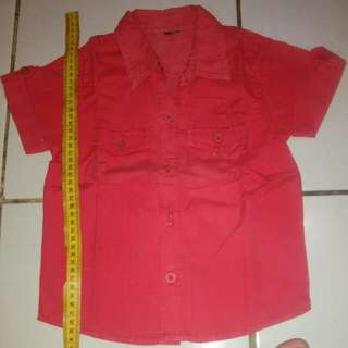 kemeja cool jeans red