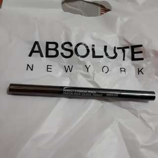 Perfect Eyebrow pencil Absolute Nelw York warna coklat