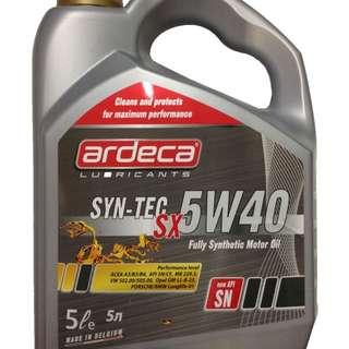 Ardeca Syn-Tec 5W40 Motor Oil