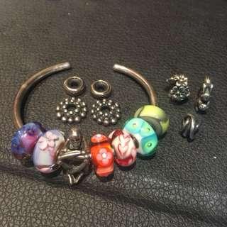 Trollbeads 玻璃珠 銀飾