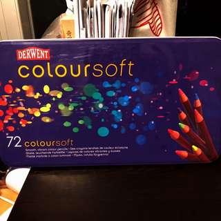 Derwent 72 coloursoft pencils