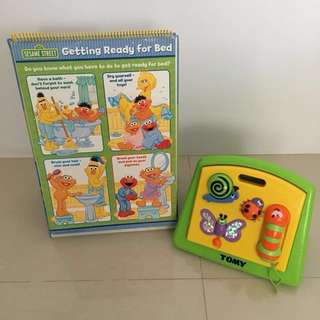 SESAME STREET Flip-and-Learn & storage toy