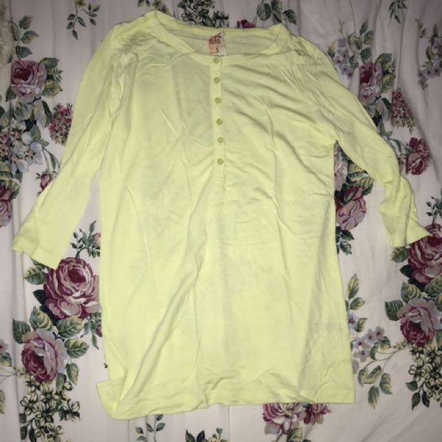 (50RIBU FOR 3PCS😂💕) Yellow Neon Longsleeve