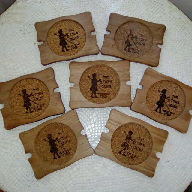 7 Wooden coasters