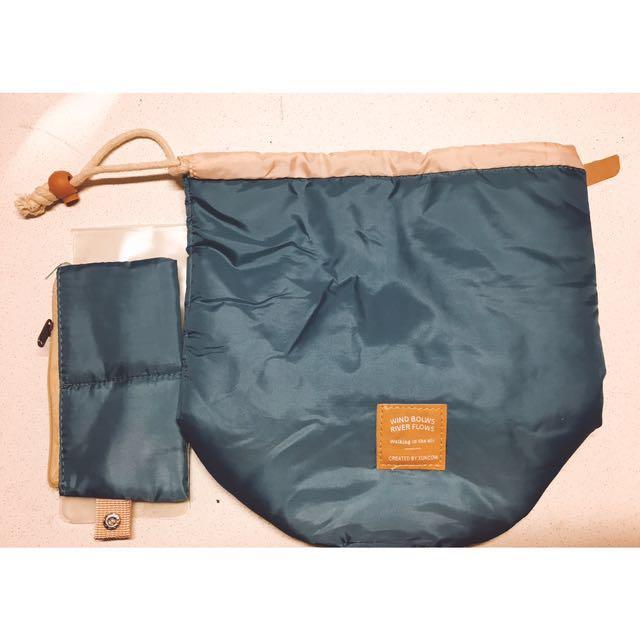旅行收納束口袋