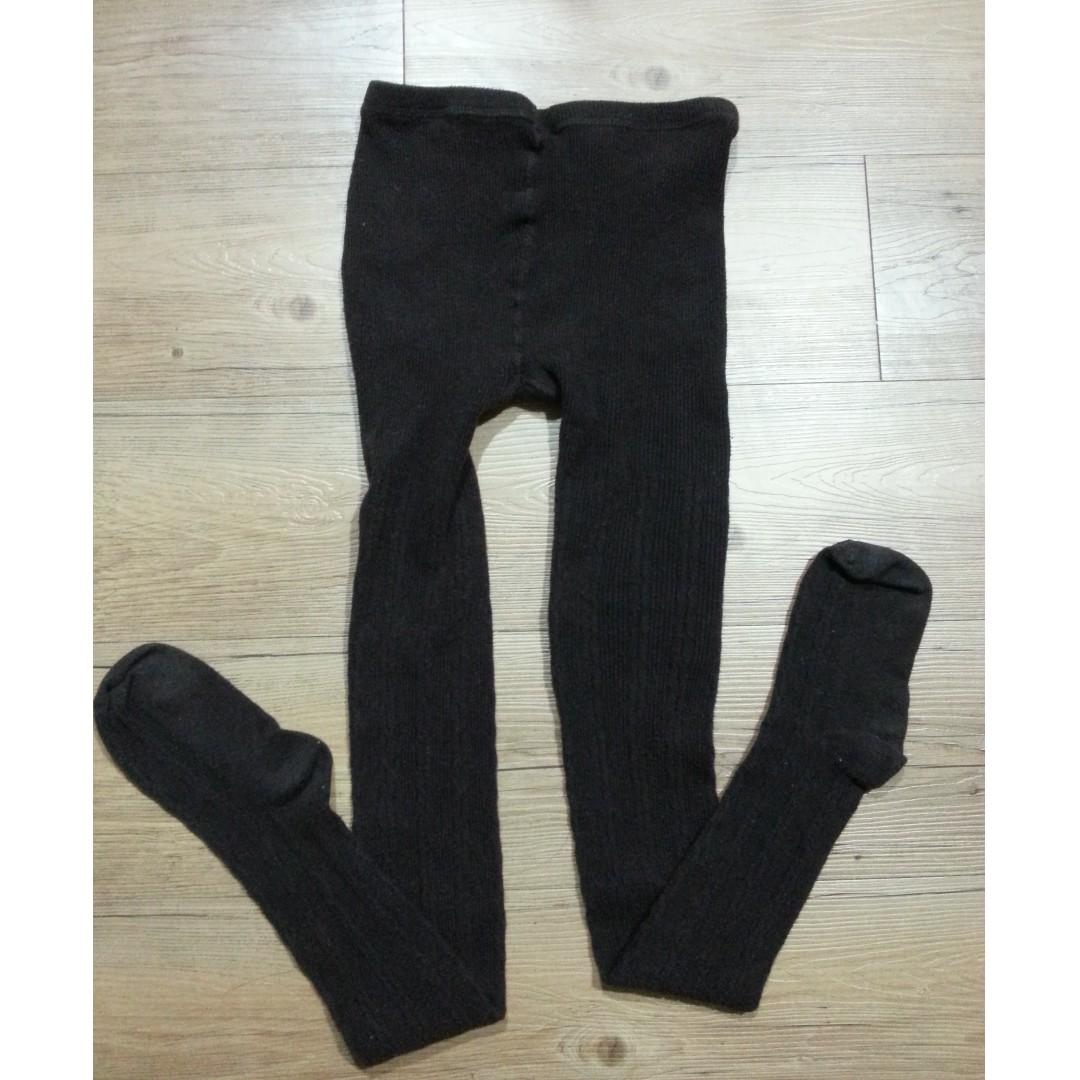 日牌針織感秋冬咖啡色褲襪