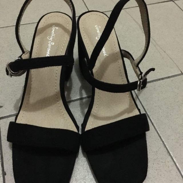 高根絨布涼鞋