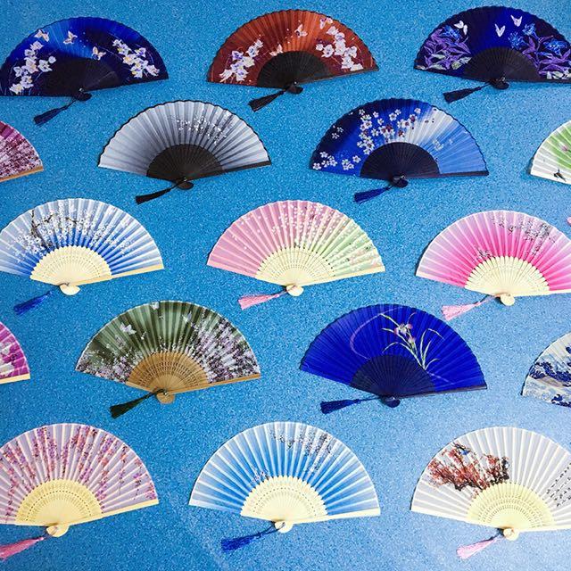 日式和風扇/真絲扇子/古典摺扇/折疊扇子/中國風