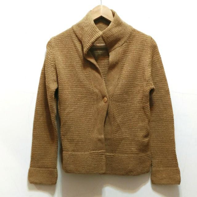針織毛衣小外套 土黃色