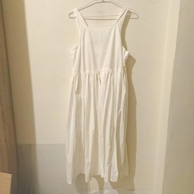 簡約 白 洋裝