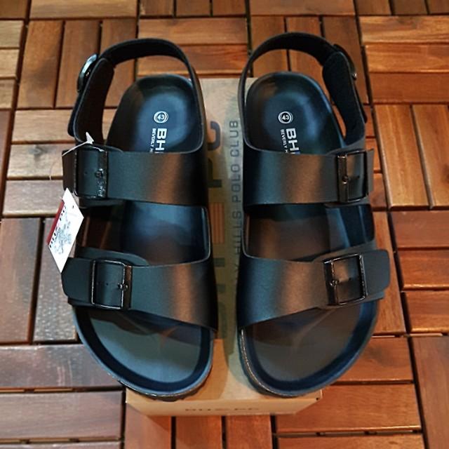 a2a22f926ae7 BHPC Beverly Hills Polo Club Bikenstock Design Mens Leather Sandal ...