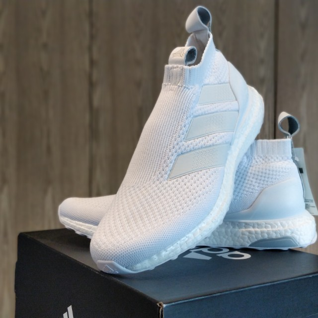 cheap for discount b617b 334ec adidas ACE 16+ Ultraboost Triple White 全白AC7750, Men s Fashion, Men s  Footwear on Carousell