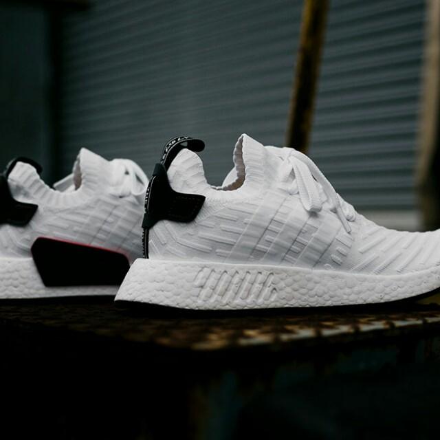 d41afbea8 Adidas NMD R2 Primeknit White Core Black