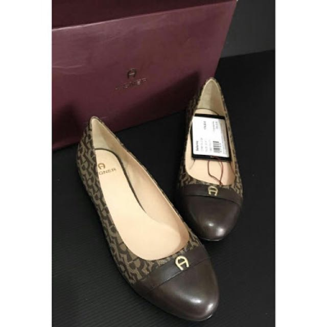 Aigner Flat Shoes - original Aigner Ballerina Brown Shoes