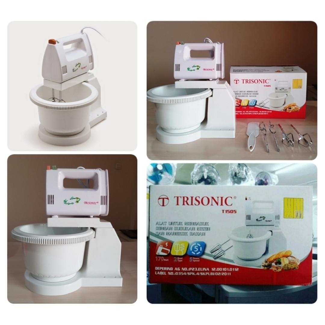 Trisonic Stand Mixer Com Berdiri Putih Cek Harga Terkini Dan Alat Pengaduk Adonan Kue Mangkok Elektronik Lainnya Di Carousell