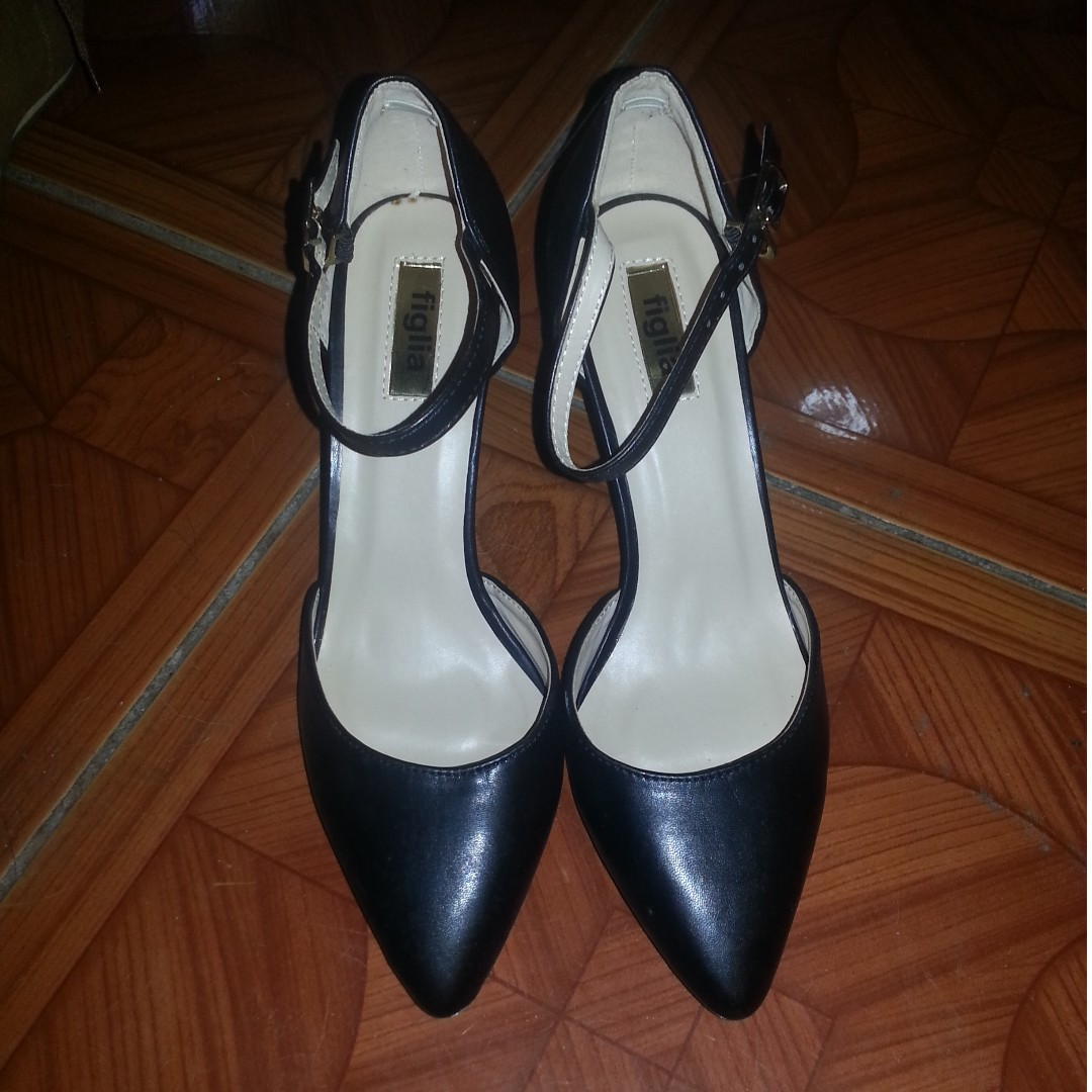 Authentic Figlia Black High Heels Shoes