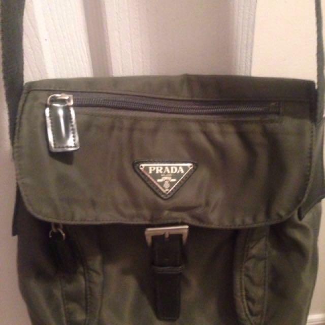Authentic Prada messenger side bag