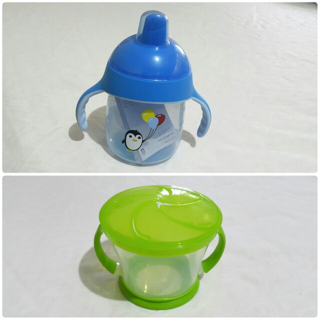 Avent Penguin Sippy Cup 9oz and Munchkin Snack Catcher