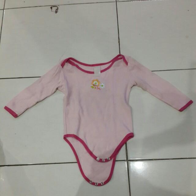 Baju bayi baby pink 6-12bln
