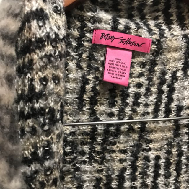 Betsey Johnson sleeveless knit overpiece  - one size