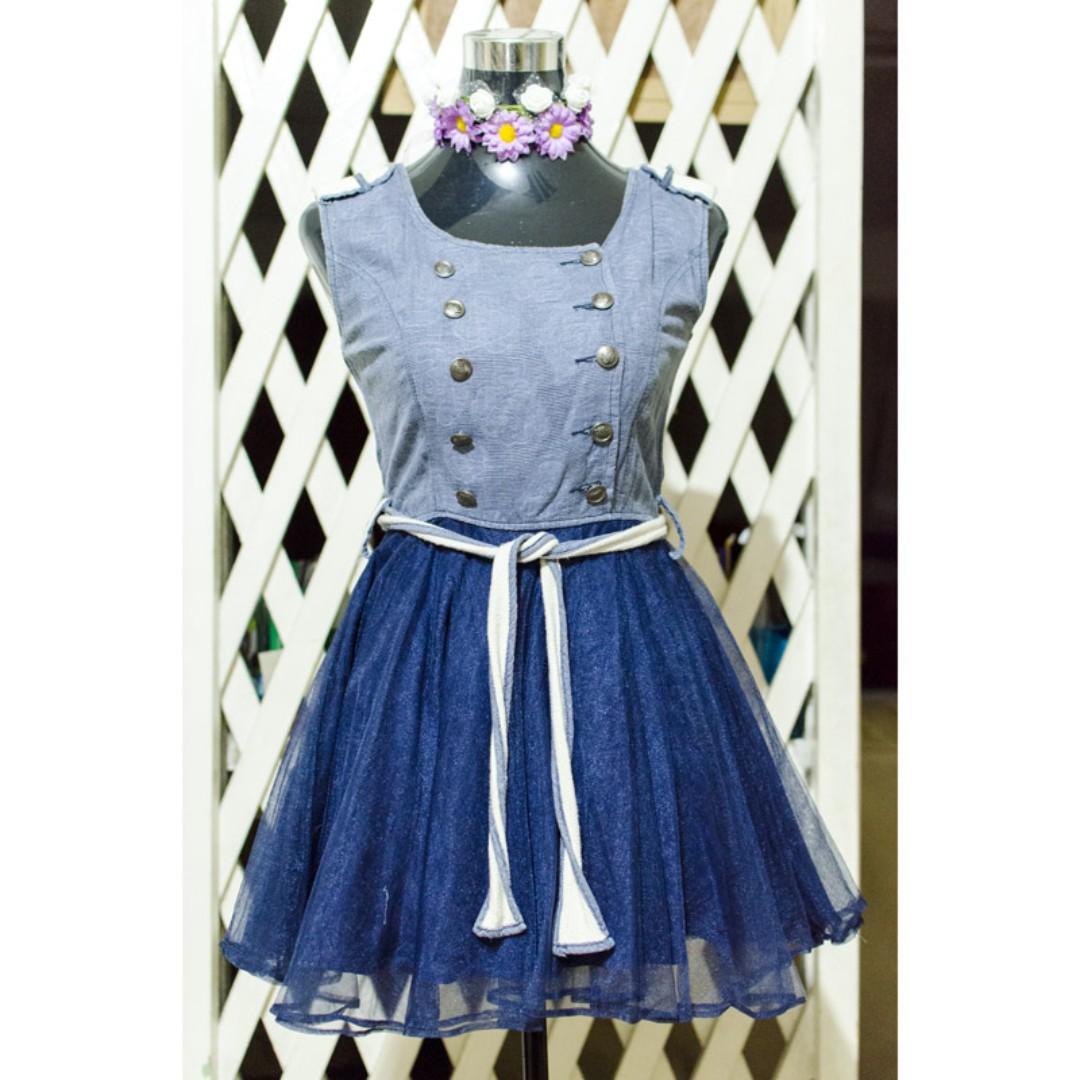 Blue Sailor Dress Kpop inspired