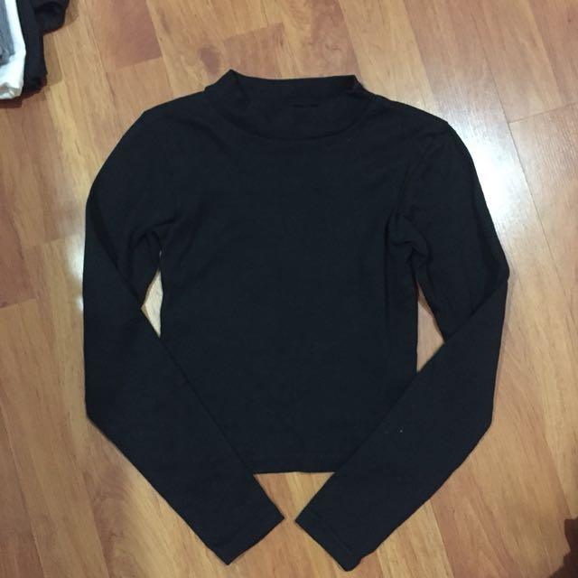 [BN] black long sleeve top