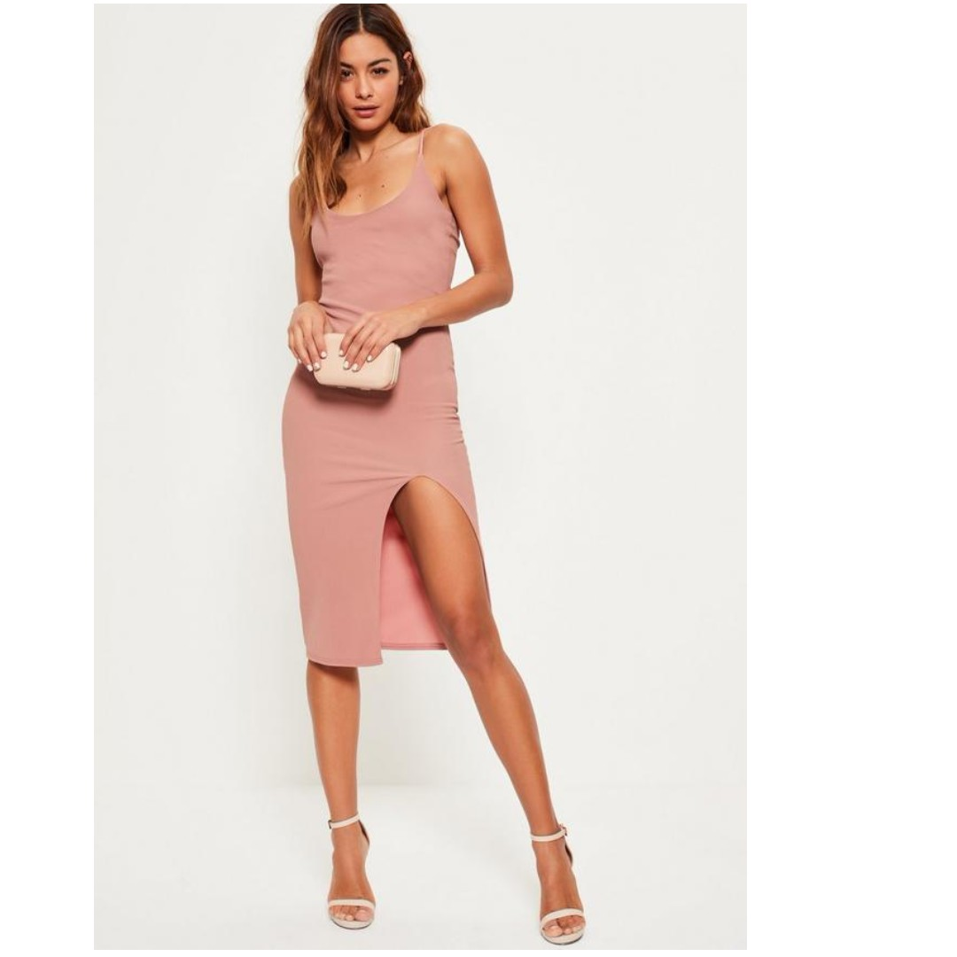 BNWT missguided pink midi dress