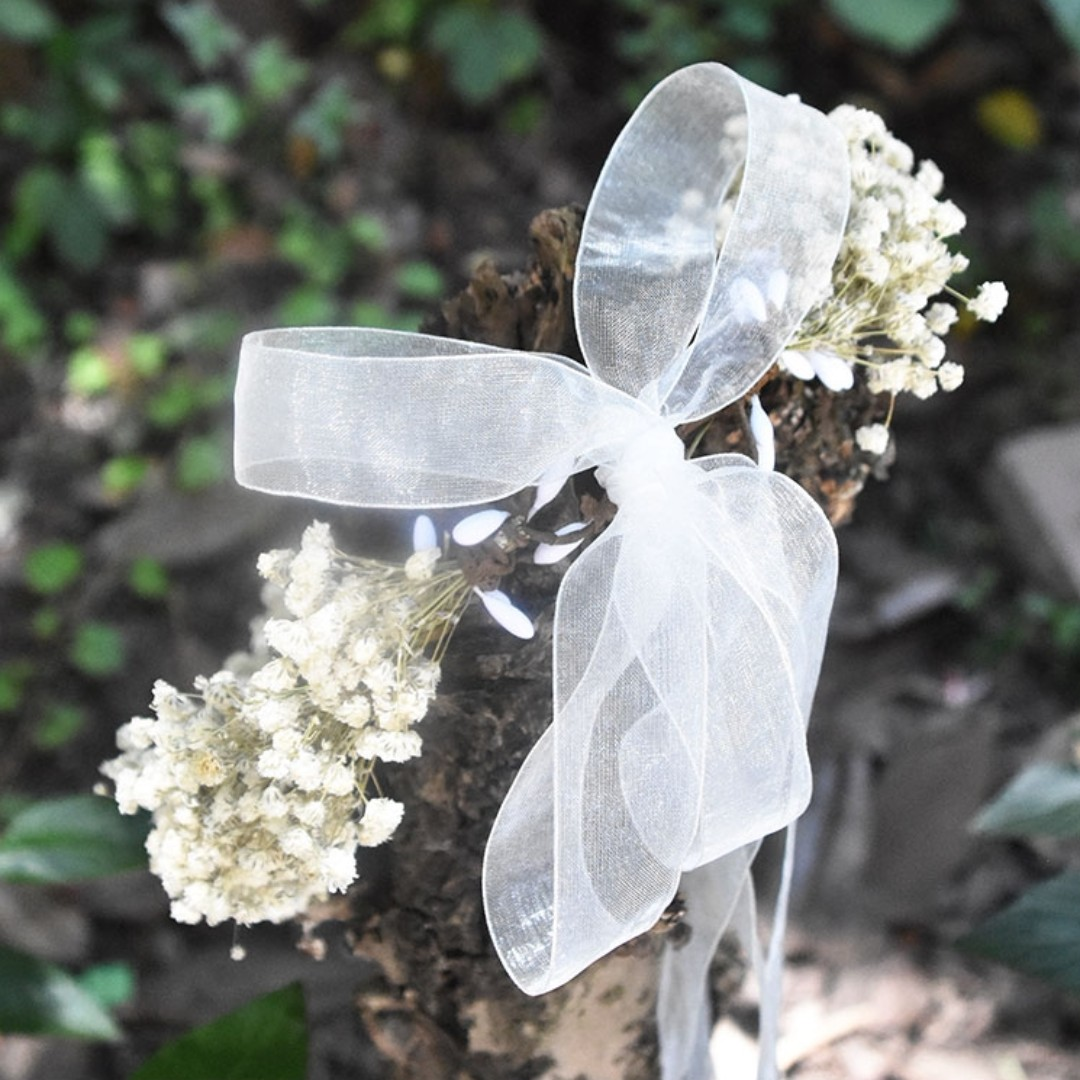 Dried baby breath bridal flower crown headband for women girls hair dried baby breath bridal flower crown headband for women girls hair fesyen wanita pakaian pengantin di carousell izmirmasajfo Image collections