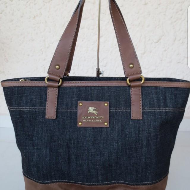 232d065a80 Burberry (BLUE LABEL) Large Denim Tote Bag (NOT Crestbridge)