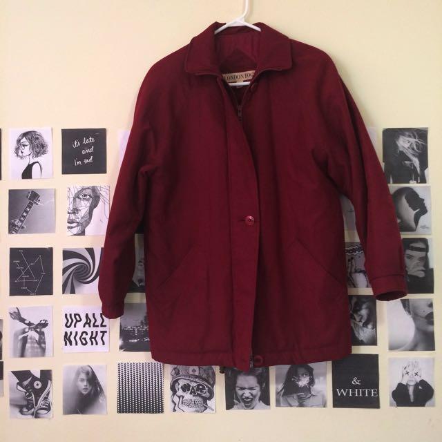 Burgundy jacket 🧥
